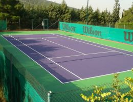 Γήπεδα τέννις στον Α.Ο. Αντισφαίρισης Παπάγου - Σύστημα ακρυλικών ρητινών Cushion