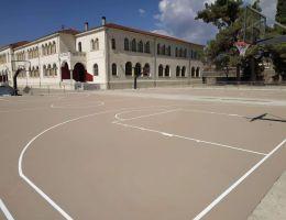 Acrylic resins system Ergo Evolution in a public school in Drama, North Greece
