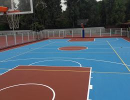 Basketball court in Municipal Stadium of Filothei, Athens