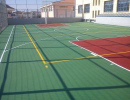 Γήπεδο μπάσκετ στο Καλλιτεχνικό Γυμνάσιο Γέρακα
