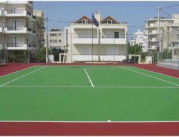 Δήμος Βριλησσίων: Συνθετικός τάπητας Cushion στο γήπεδο τέννις οδού Ολύμπου