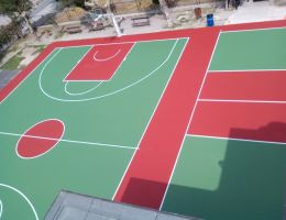 Acrylic resins sports surfaces in an Elementary School of Kos Island, Greece