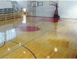 Wooden sports floor in Zante Island
