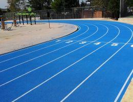 Ελαστικός τάπητας στίβου στο Αθλητικό Κέντρο Παπάγου Αττικής