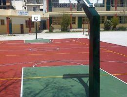 2nd Elementary School of Ilioupoli, Athens: Mini basketball field (Ergosoft)