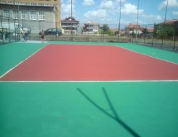 Volleyball court in Karnobat, Bulgaria in cooperation with Casali SpA