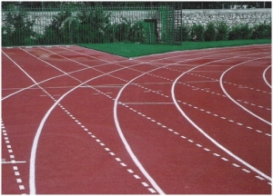 Running track in Holargos Municipality, Athens, Greece