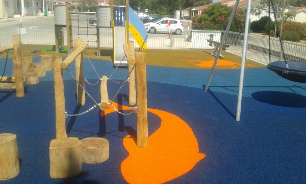 Another successful wet pour safety surface in Cyprus
